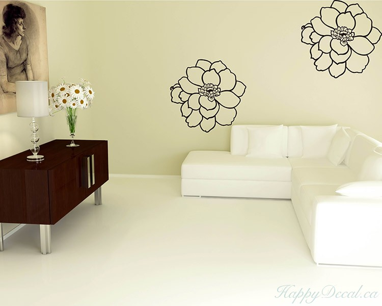 A Set of 2 Flowers Decal